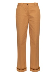 Trademark Fringed Cuff Twill Trousers