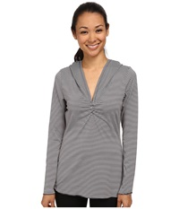 Prana Perry Stripe Pullover Coal Women's Long Sleeve Pullover Gray