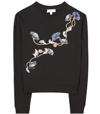 Carven Embroidered Sweater Black