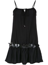 Amir Slama Embellished Straight Dress Cotton Black