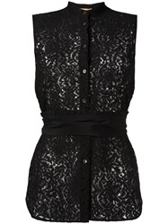 N 21 No21 Belted Lace Blouse Black