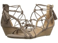 Report Minnie Taupe Synthetic Women's Wedge Shoes