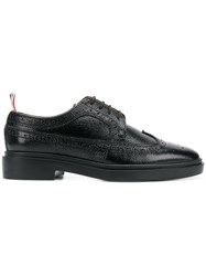 Thom Browne Pebble Grain Longwing Brogue With Rubber Sole Black