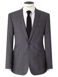 John Lewis Kin By Jude Check Tailored Suit Jacket Grey