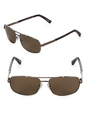 Ermenegildo Zegna 61Mm Aviator Sunglasses Bronze
