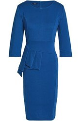 Raoul Pleated Stretch Cotton Dress Blue