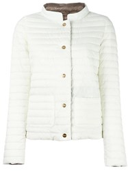 Herno High Neck Jacket White