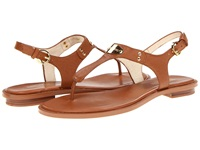 Michael Michael Kors Mk Plate Thong Luggage Women's Sandals Brown