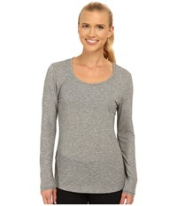 Lucy L S Workout Tee Asphalt Heather Women's Workout Gray