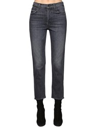 Mother The Tomcat Cotton Denim Bootcut Jeans Black