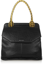 Mcq By Alexander Mcqueen Deysi Elaphe Trimmed Textured Leather Tote
