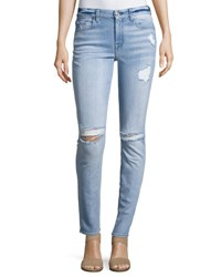 7 For All Mankind Destroyed Skinny Jeans Bright Bristol Indigo