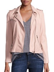 Rebecca Taylor Washed Leather Cropped Jacket Pale Grey Nude
