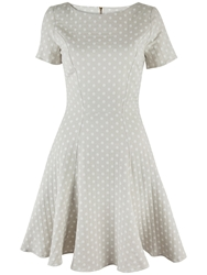Almari Polka Dot A Line Dress Stone