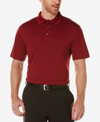Pga Tour Men's Mesh Golf Polo Cabernet