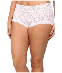 Hanky Panky Plus Size Signature Lace Solid New Boyshort White Women's Underwear