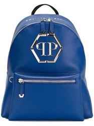 Philipp Plein 'Nicosia' Backpack Blue