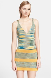 Missoni Mare Space Dye Cover Up Dress Yellow Blue Multi