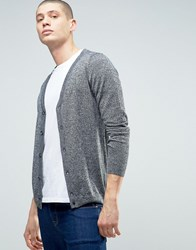 Asos Merino Wool Cardigan In Black Twist Black White Twist Grey