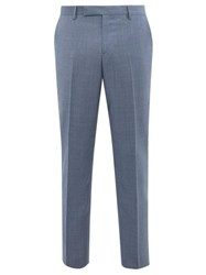 Paul Smith Soho Fit Wool Twill Trousers Blue