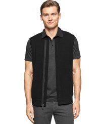 Calvin Klein Hidden Zipper Ribbed Vest Black