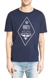 Men's Obey 'Diamond Lotus' Graphic Crewneck T Shirt