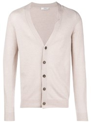 Mauro Grifoni V Neck Cardigan Nude And Neutrals