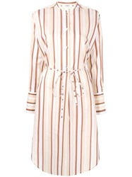 Ports 1961 Shirt Dress With Stripes Neutrals