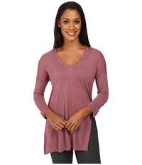 The North Face Nueva 3 4 Tunic Renaissance Rose Women's Long Sleeve Pullover Brown