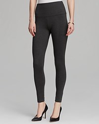 Lysse Ponte Leggings With Center Seams Charcoal