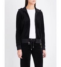 Juicy Couture Bou Robert Velour Hoody Pitch Black