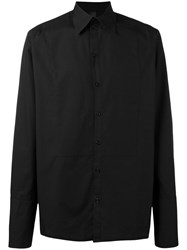 Odeur 'Sublime' Poplin Shirt Unisex Cotton M Black