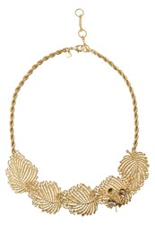 Banana Republic Jeweled Leaf Necklace Goldcoloured