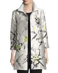 Caroline Rose All In Bloom Jacquard Party Jacket Light Yellow Iced Citron