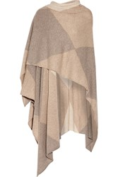 Madeleine Thompson Fulford Color Block Cashmere Wrap Beige