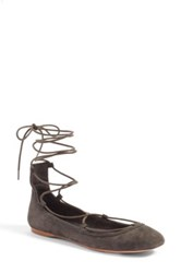 Joie Jenessa Lace Up Ballet Flat Gray