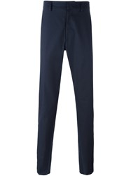 Valentino Stripe Detail Trousers Blue