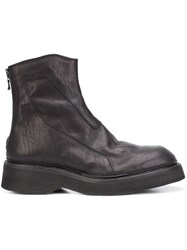 Julius Back Zip Ankle Boots Black