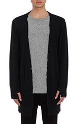 Rta Distressed Elongated Cardigan Black