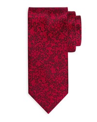 Stefano Ricci Small Paisley Silk Tie Black Red