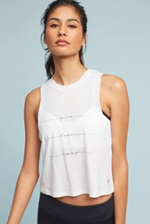 Anthropologie Flow Tank Top White