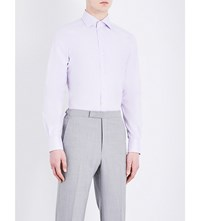 Corneliani Slim Fit Cotton Shirt Pink