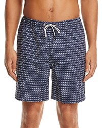Michael Kors Geometric Print Swim Trunks Midnight