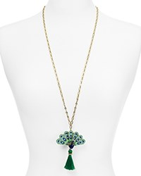 Kate Spade New York Peacock Pendant Necklace 30 Blue Multi
