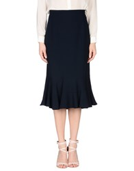 Gai Mattiolo Skirts 3 4 Length Skirts Women Dark Blue