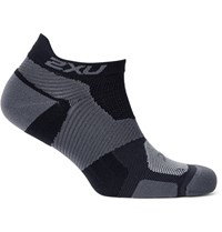 2Xu Race Vectr Stretch Knit No Show Compression Socks Black