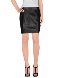 Blk Dnm Skirts Knee Length Skirts Women Black