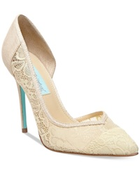 Blue By Betsey Johnson Grace Evening Pumps Women's Shoes Champagne