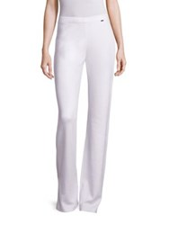 St. John Sport Collection Milano Solid Pants White