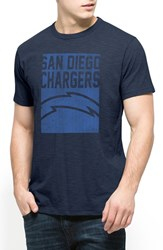 Men's 47 Brand 'San Diego Chargers Scrum' Graphic T Shirt